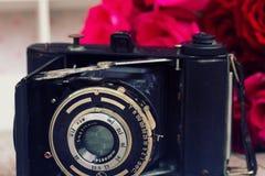 Antique photo camera Stock Images