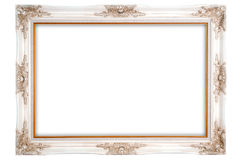 Antique photo frame. On the white background Royalty Free Stock Photography