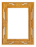 Antique photo frame. On the white background Stock Image