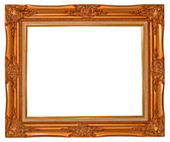 Antique photo frame. On the white background Stock Photo