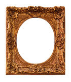 Antique photo frame isolated on white background Stock Photography