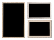 Antique photo frame set with wavy edges Royalty Free Stock Photo