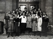 Antique photo of the Students Stock Photography