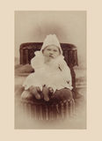 Antique photograph of baby boy Stock Photography