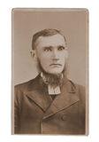 Antique photograph man minister stock images