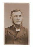 Antique photograph man minister. Antique original photograph portrait of a man preacher or minister.  Taken circa 1885 Stock Images