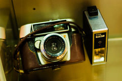 Antique Photography Camera In Museum Showcase Royalty Free Stock Photography