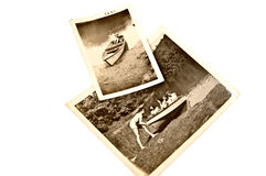 Antique Photos/ Boating Fun Stock Photo