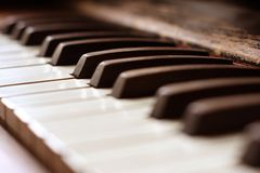 Antique Piano stock image