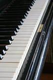Antique piano. Piano close up stock image
