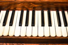 Old Fashioned Piano Keys with Curved Keys Stock Image