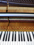 Antique piano interior parts Royalty Free Stock Photo