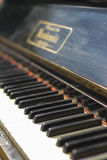 Antique Piano Keys. Natural light, focus on keys, deep of the field Royalty Free Stock Photos