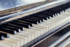 Antique piano keys Royalty Free Stock Photo