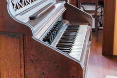 Antique piano keys and wood vintage style. Stock Photo