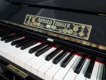 Antique piano manufactured Arnold Fibiger in Sergeyev-Tsensky house Royalty Free Stock Image