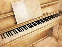 An antique piano Stock Photos