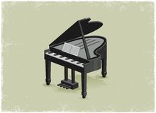 Antique piano Royalty Free Stock Images