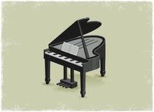 Antique piano vector illustration