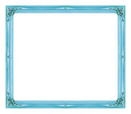 Free Antique Picture Blue Frame Isolated On White Background Stock Image - 71052931