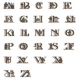 Antique Picture Font  Royalty Free Stock Photos