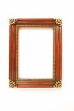 Antique Picture Frame. Isolated old picture frame on white background Royalty Free Stock Image