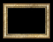 Antique picture frame. Antique wooden frame with pattern stock photo