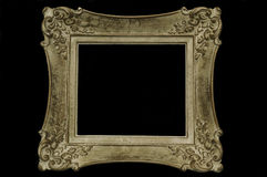 Antique picture frame. Isolated on a black background stock images