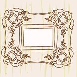 Antique picture frame. Hanging on the wall Stock Image