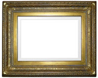 Antique Picture Frame. Old Antique Wooden Picture Frame Stock Photo