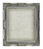 Antique picture frame with empty grunge linen canvas for your pi Stock Images