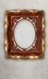 Antique picture frame handmade ceramics isolated on marble effect background Stock Photos