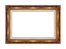 Antique picture frame isolated on white Stock Photography