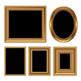 Antique picture frames Royalty Free Stock Images