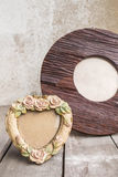 The antique picture frames Stock Photography