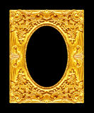 Antique picture golden frame isolated on black background, clipp Royalty Free Stock Image
