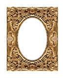 Antique picture golden frame isolated on white background, clipp Stock Image