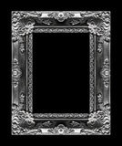 Antique picture gray frame isolated on black background, clippin. G path Stock Photo