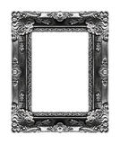 Antique picture gray frame isolated on black background, clippin Royalty Free Stock Photography
