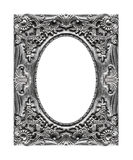 Antique picture gray frame isolated on white background, clippin. G path Stock Photography