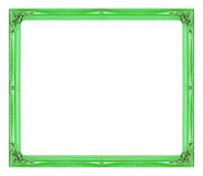 Antique picture green frame isolated on white background Royalty Free Stock Photo