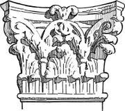 Antique pillar stock illustration