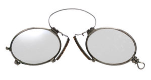 Antique pince-nez Stock Images