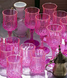 Antique pink glasses Royalty Free Stock Image