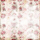 Antique pink and red shabby chic rose repeat pattern wallpaper Royalty Free Stock Images