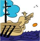 Antique Pirate Ship. stock image