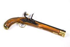 Antique Pistol 5. An antique pistol - cocked Stock Image