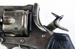 Antique Pistol with Hammer Back. Royalty Free Stock Images
