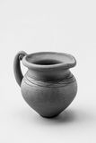 Antique pitcher. Amphorae. Black - white Royalty Free Stock Images
