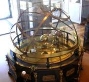 Antique planetrium. Antique metal planetarium stock photos